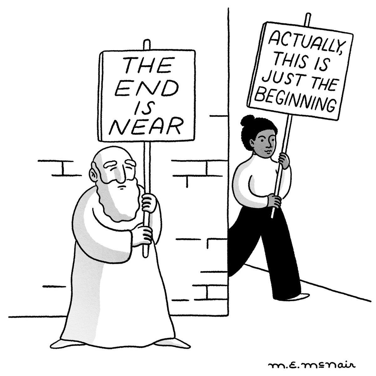 A cartoon by Elisabeth McNair. https://t.co/ia9Yb1Kf1T