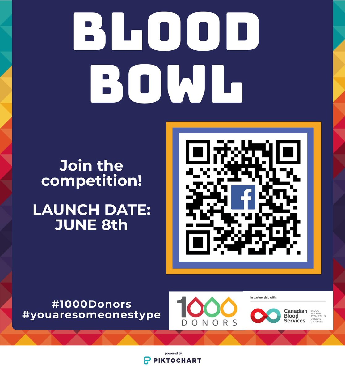 To celebrate #NationalDonorWeek, #1000Donors is launching our Blood Bowl! If you are part of a fraternity, sorority, University athletic team, high school or any group who might be interested to take part, message us or like the facebook event page at: https://t.co/c6a79h1W77 https://t.co/d0Jzb5Gqfm