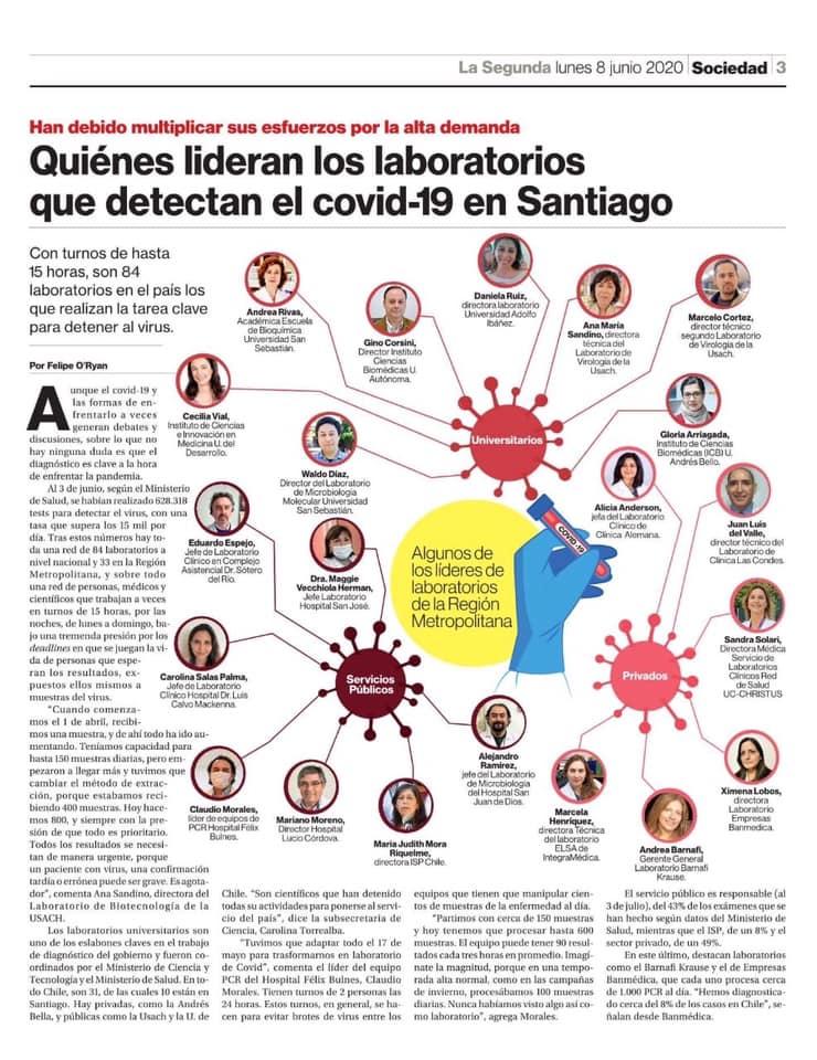 👏👏👏 @usach: la única Universidad Pública de Santiago que cuenta con dos laboratorios para la detección del #covid19. Felicitaciones al equipo que hace posible esta realidad 👏👏👏 #covid19 #Usach #Chile https://t.co/kjzZ2cbwS6