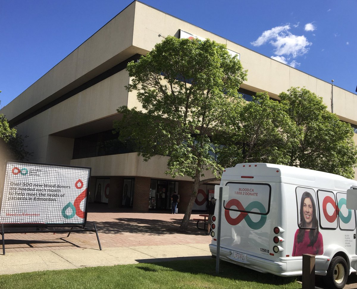 Got time to donate? As surgeries ramp up again, the need for blood is up. Make an appointment on https://t.co/XGBr52cxIf #CanadianBloodServices #yeg #blooddonation https://t.co/O8boRu7mV5