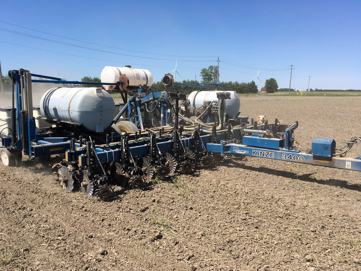 Finished planting 2020 with white beans custom built planter worked well thank you Kearny Planters