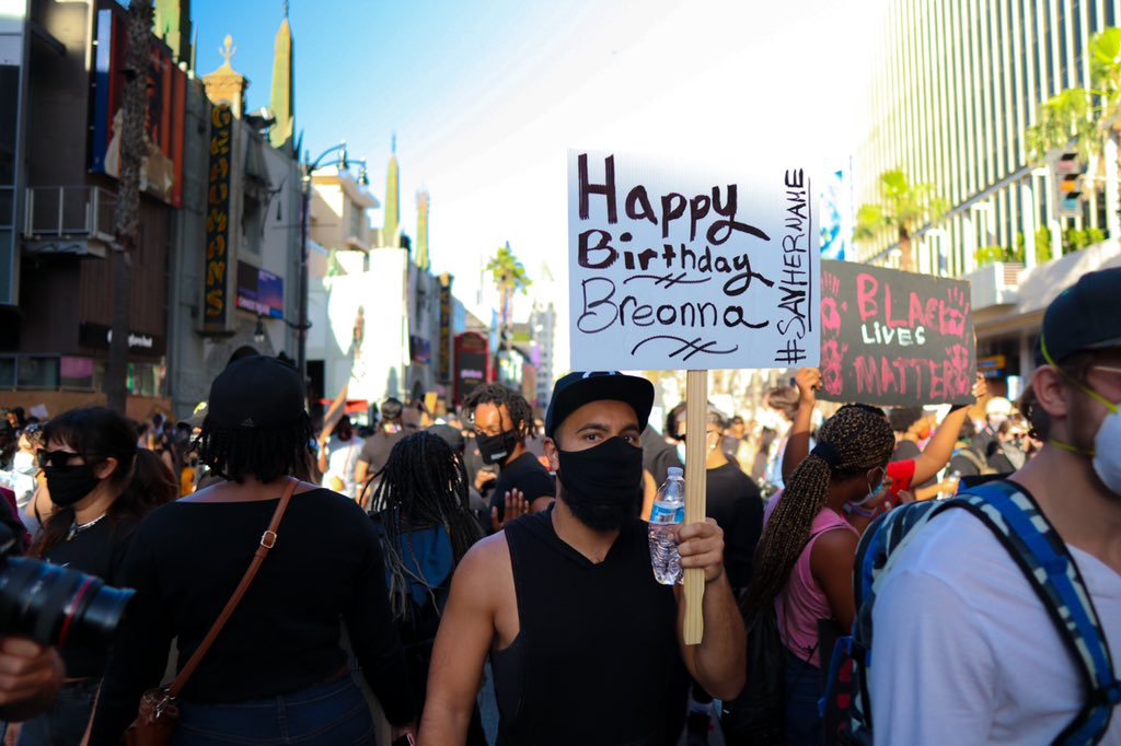 #SayHerName #BreonnaTaylor we have NOT forgotten about you! We will continue to shout your name until justice has been served! #blm #BLMLA #DefendBlackLife #JusticeForBre #HappyBirthdayBreonnaTaylor
