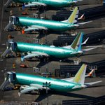Image for the Tweet beginning: Boeing jet deliveries sink to