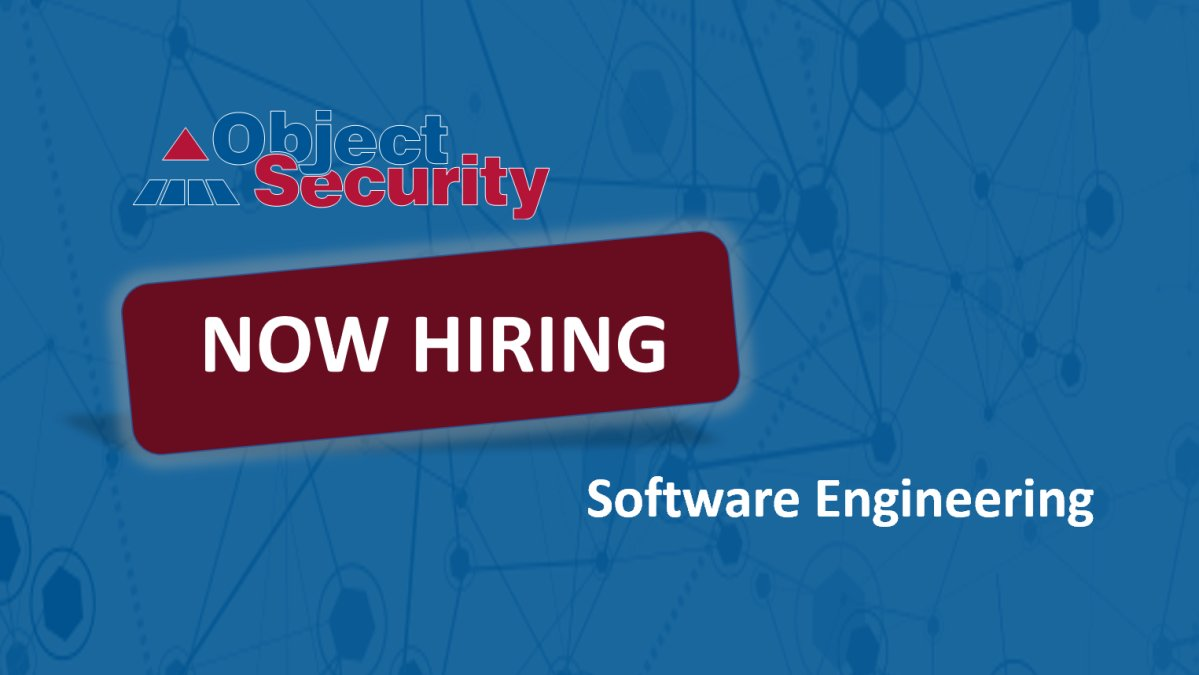 "ObjectSecurity on Twitter: ""We are #hiring another #software ..."
