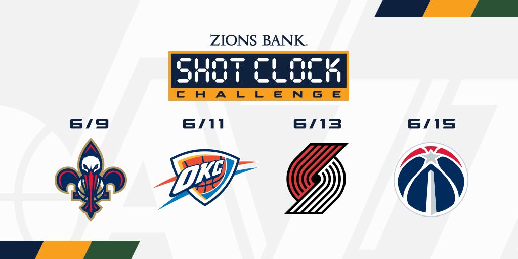 This week's opponents 📱  #ShotClockChallenge | @ZionsBank  » https://t.co/EVINYn9Rb5 https://t.co/WVRDu9wM13