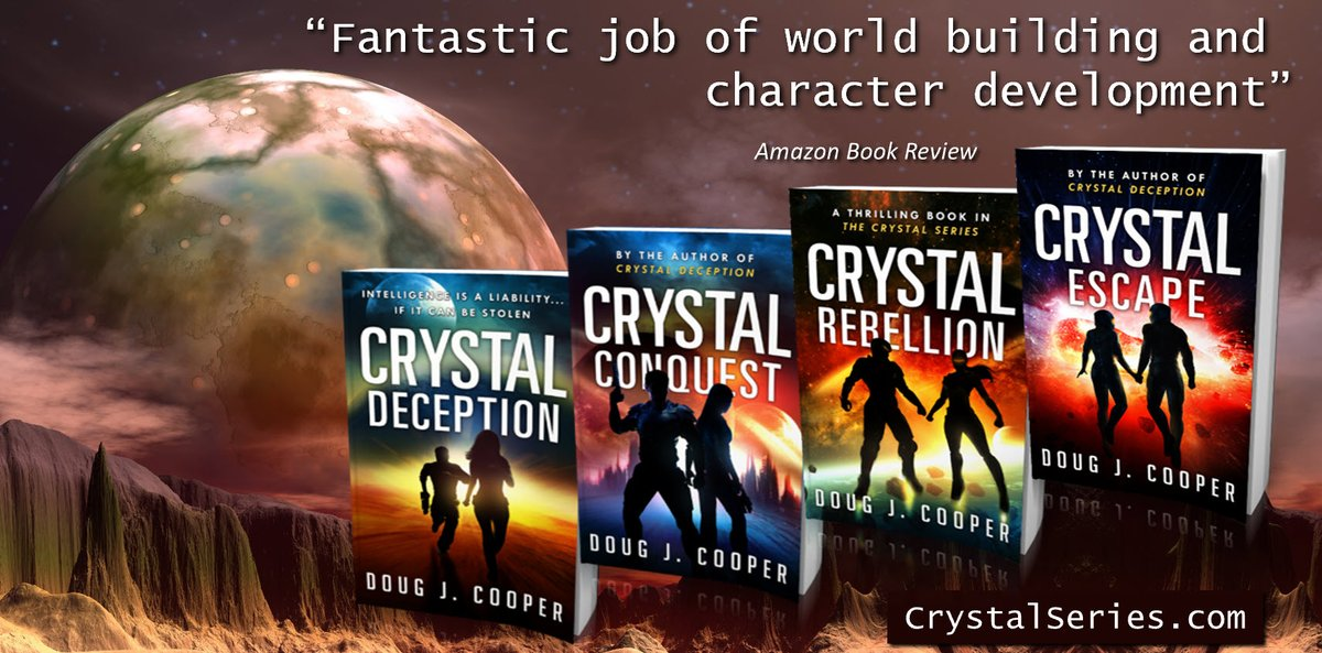 Cheryl acknowledged a twinge of happiness when he didnt let go. The Crystal Series – classic sci-fi thrills Start with first book CRYSTAL DECEPTION Series info: CrystalSeries.com Buy link: amazon.com/default/e/B00F… #asmsg #ian1
