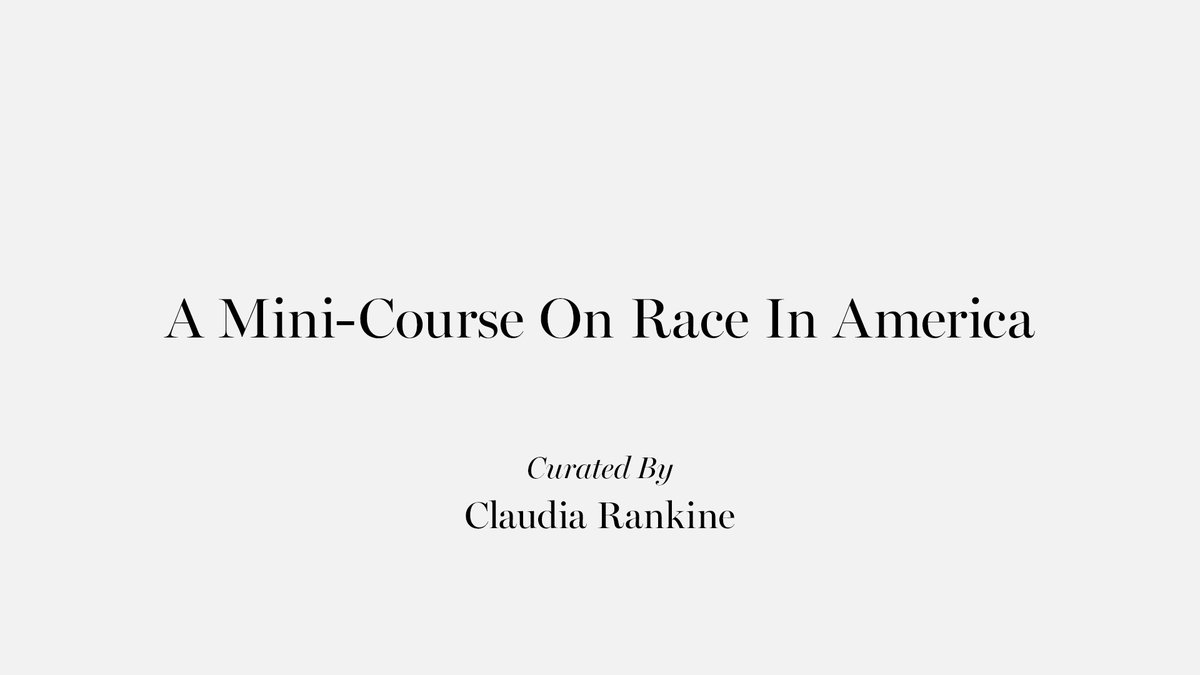 """Claudia Rankine is a poet, essayist and playwright. Her next book, """"Just Us: An American Conversation"""" is forthcoming with @Graywolfpress. She has curated this list exclusively for us. We encourage you to read it and share with your community: apple.co/claudiarankine #ReadWithUs"""