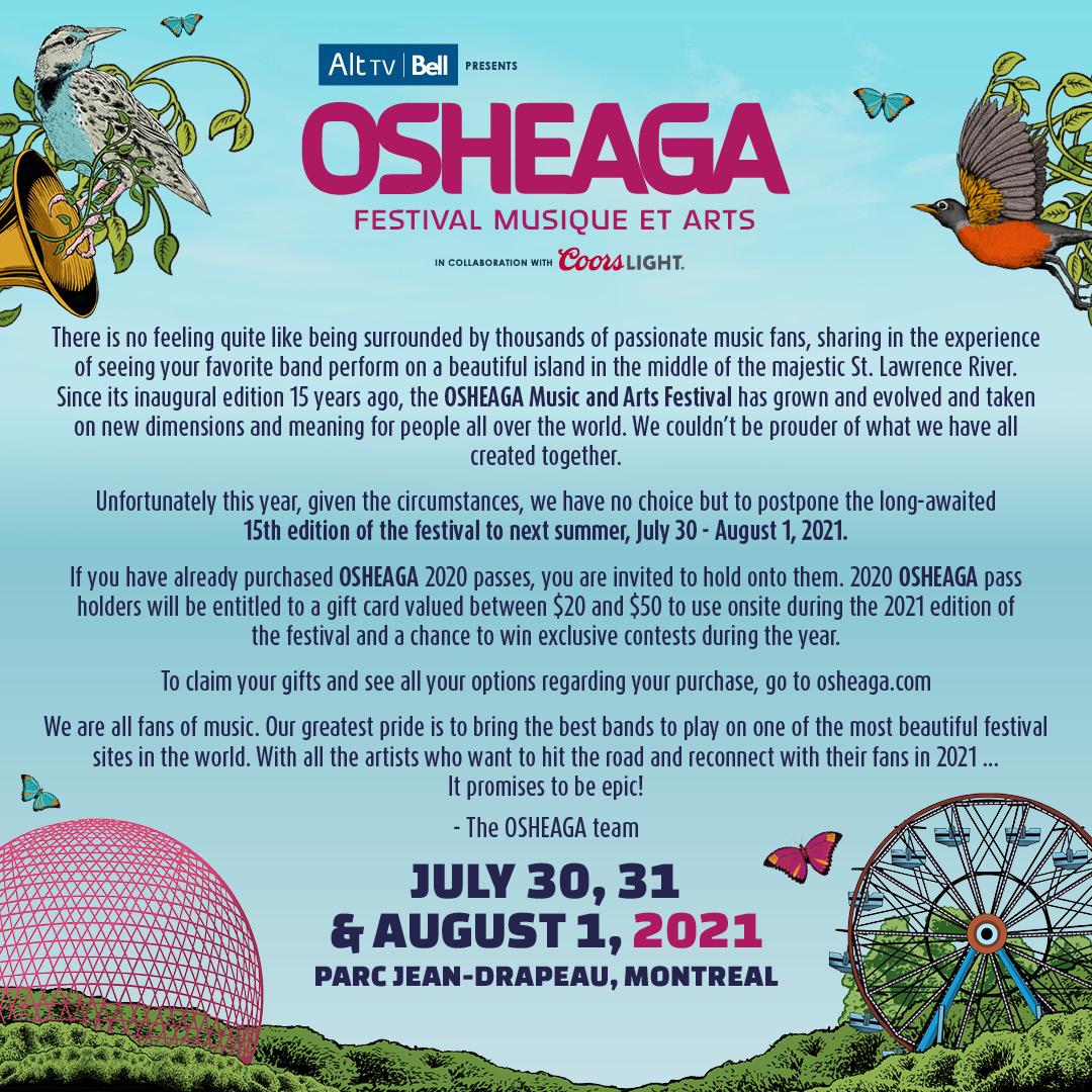 Osheaga 2020