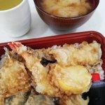 Image for the Tweet beginning: お昼は、天丼のテイクアウト♪ #照国 #isehara_eats