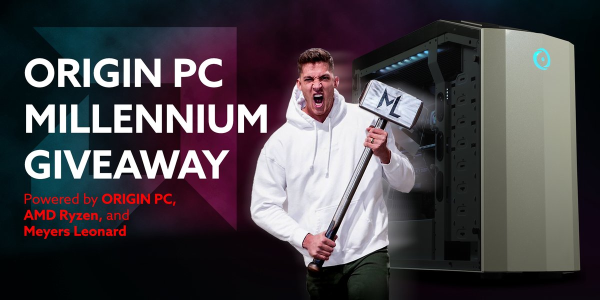 🎁 [CUSTOM DESKTOP GIVEAWAY] 🎁 Enter for a chance to win a custom ORIGIN PC MILLENNIUM powered by @AMDRyzen and inspired by The Hammer 🔨 @MeyersLeonard! ⚡ Enter here: bit.ly/30rxzCa (US Only)