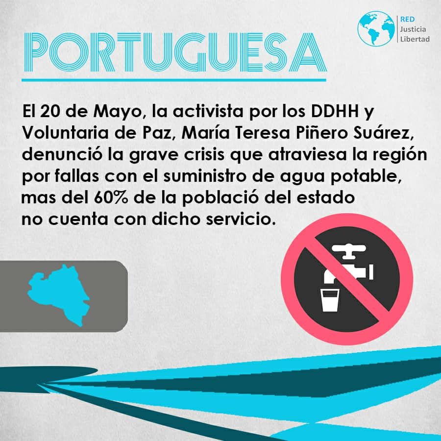 #20demayo activistas de DDHH denuncian que mas del 60% del estado se encuentra sin suministro de agua potable. #Portuguesa #LlanosSinDDHH @redjusticiaylibertad @fundehullanvzlapic.twitter.com/R32UQLH7lm