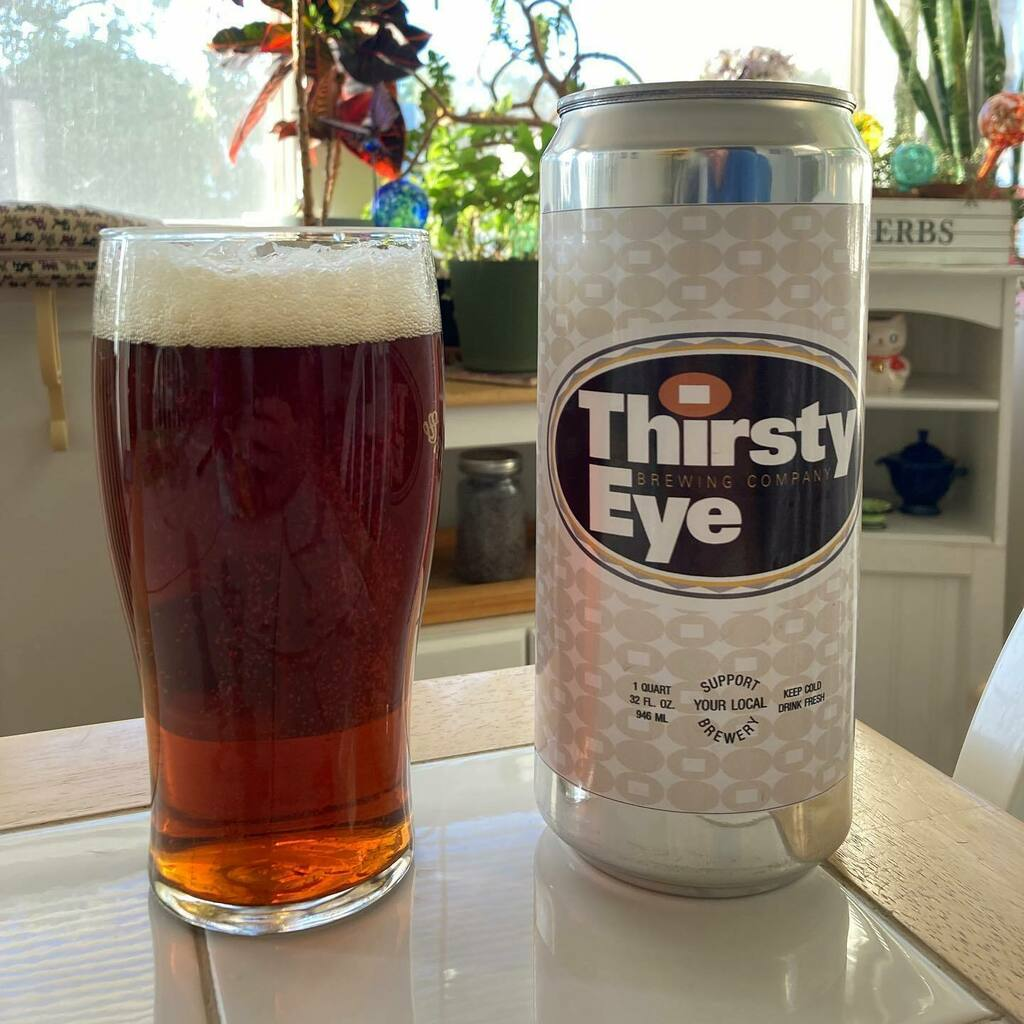 This is el Ojo Rojo from Thirsty Eye Brewing Co. Our red ale starts buttery smooth with a medium body of caramel slightly-sweet malty deliciousness inspired by Old World  tradition. Finishes dry with a touch of modern American fruity hops. Take one home … https://t.co/Yp02XDdX0B https://t.co/SqUAms6jPH