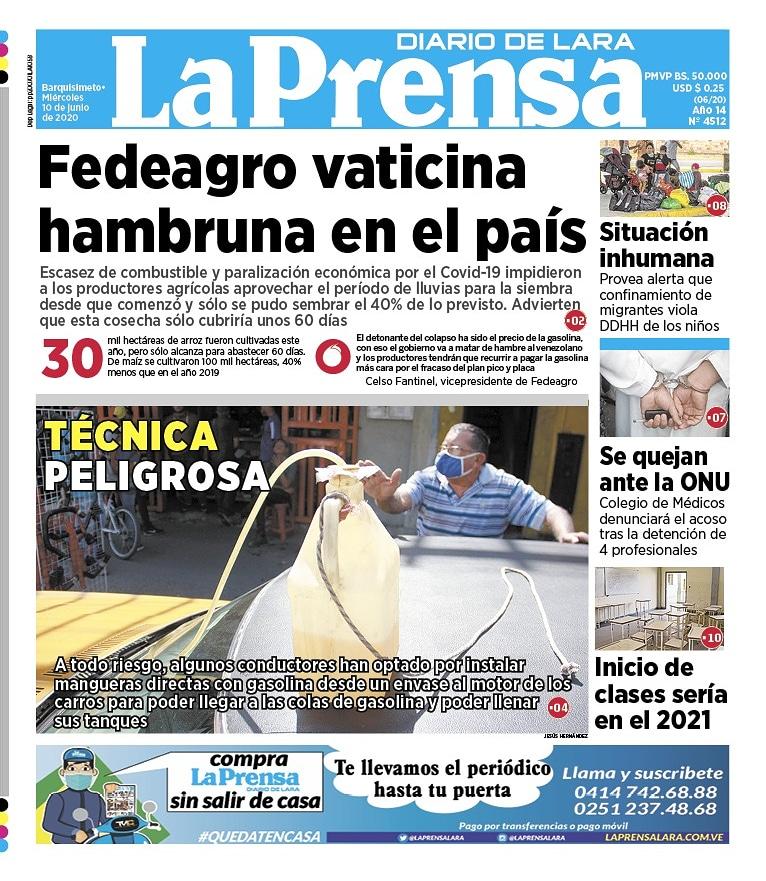 Primera Página La Prensa de Lara