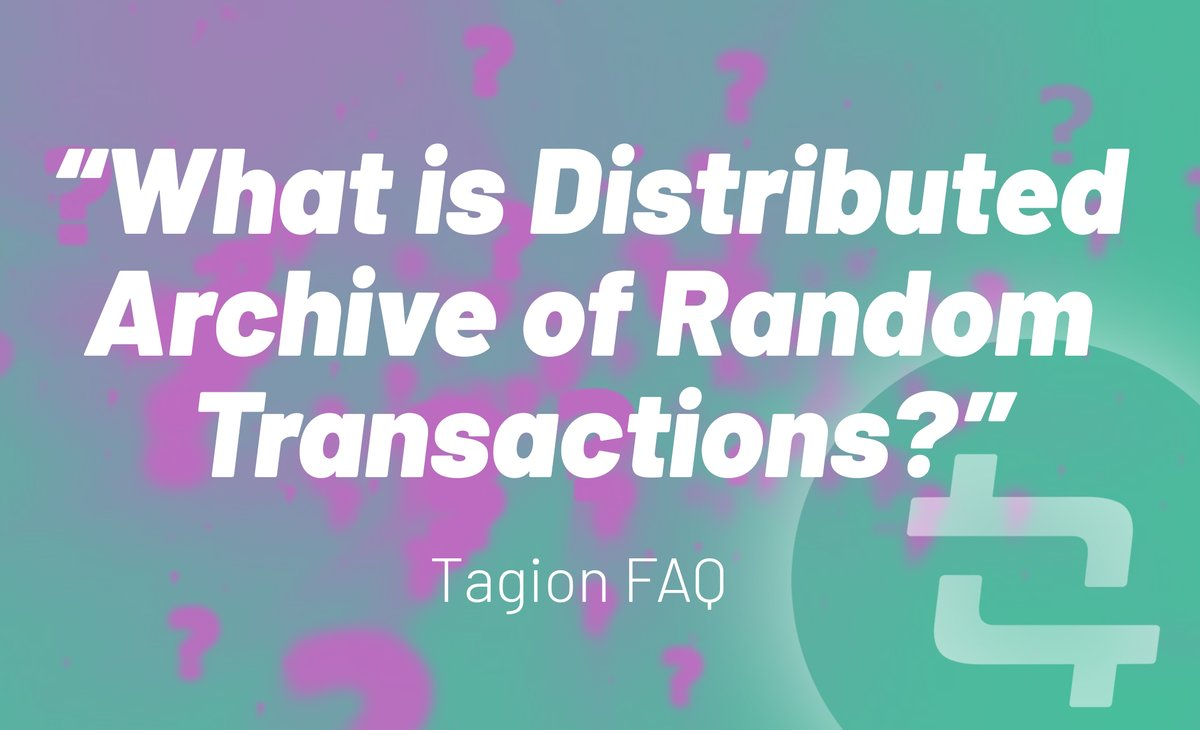 DART is built to store and keep track of transactions on Tagion. The database efficiently handles the removal and addition of transactions in a secure and distributed manner.  FAQs: https://t.co/xtxH2NRZWB  Telegram Chat: https://t.co/nrAowO4GL8  #faq #altcoin #crypto #altcoins https://t.co/MTHhfDCpQl