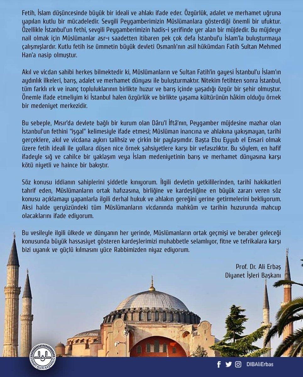 """Fetihe """"işgal"""" demek kendini Sultan Fatih ve onun gönüldaşlarının karşısında karşısında konumlandırmaktır. #FatihSultanMehmet #istanbulFethi #MilliHesaplarYanyana #MilliHesaplarBurada https://t.co/DdmmwNx4Xc"""