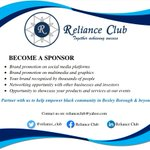 Image for the Tweet beginning: Become a sponsor @Reliance_Club Promote your