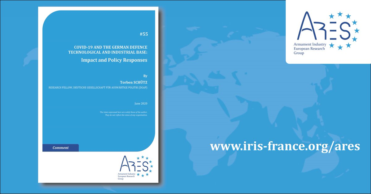 Two new issues of the ARES series on the impact of COVID-19 on EU member states arms industry and the policy responses : @_schuetzt  for the german case and Felix Arteaga for the spanish case @InstitutIRIS @AresGroup_EU @rielcano https://t.co/0IZn9UUldw https://t.co/5ohVtdMaLD