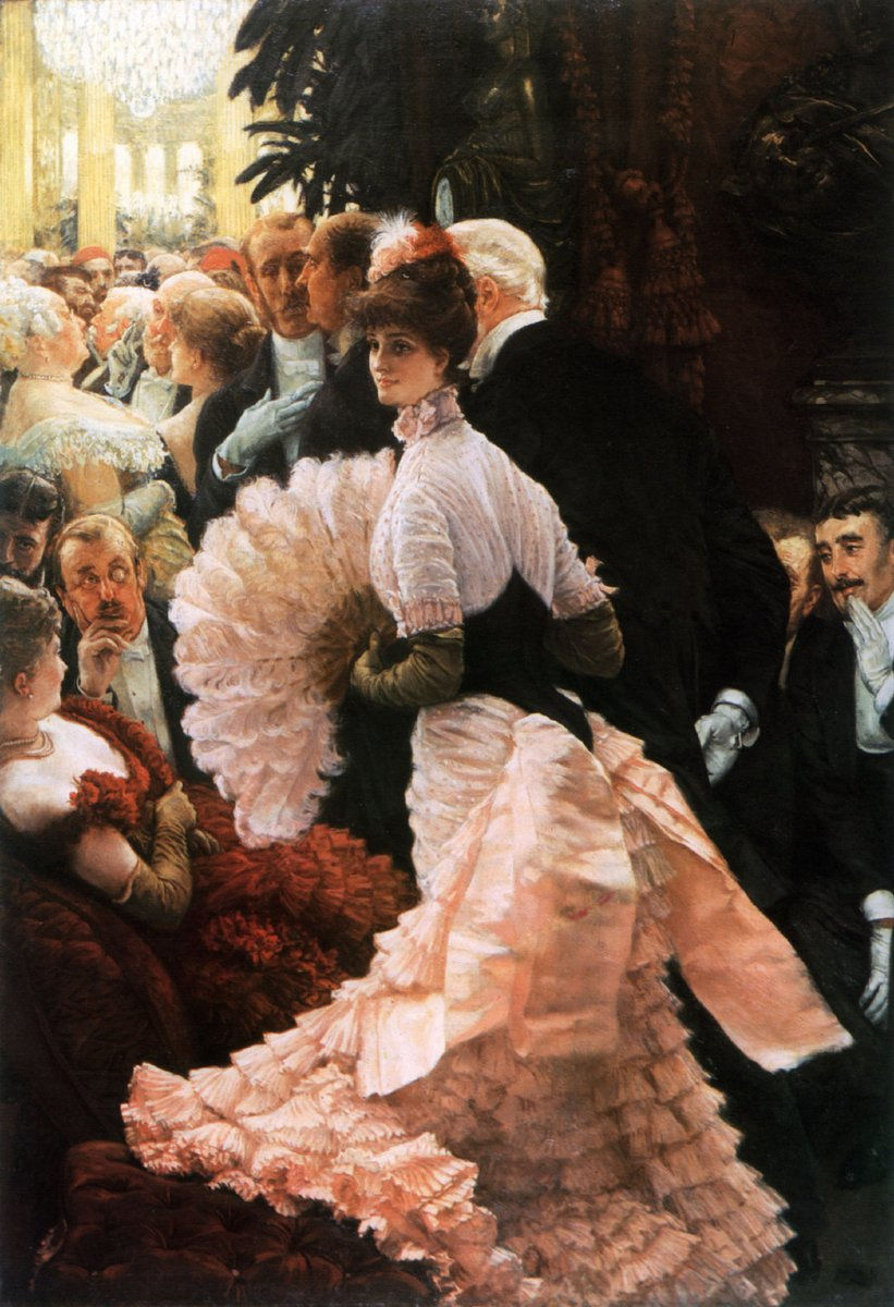 Jacques Joseph Tissot ( 15 October 1836 – 8 August 1902 )was a French painter and illustrator. He was a successful painter of Paris society before moving to London in 1871. He became famous as a genre painter of fashionably dressed women shown in various scenes of everyday life.