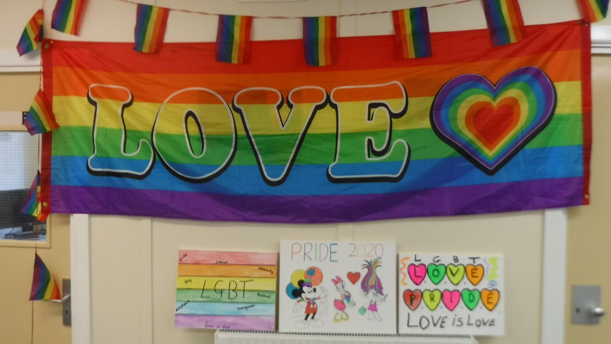 Happy Pride Month 🏳️‍🌈🏳️‍🌈 - Residents are celebrating #PrideMonth by showcasing their artwork throughout the establishment.  Low Newton will be raising the Pride flag to show solidarity to the LGBT+ communities. @HMPPS_PiPP 🌈🏳️‍🌈 https://t.co/EIYAngorAw