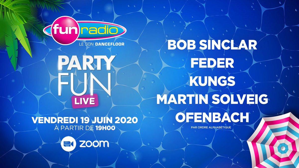 Fun Radio fête la musique 👉 summer is coming ☀️ rendez-vous le 19 Juin avec nos DJs français : @bobsinclar @Feder_Music @KungsMusic @martinsolveig et @Ofenbachmusic ❤️