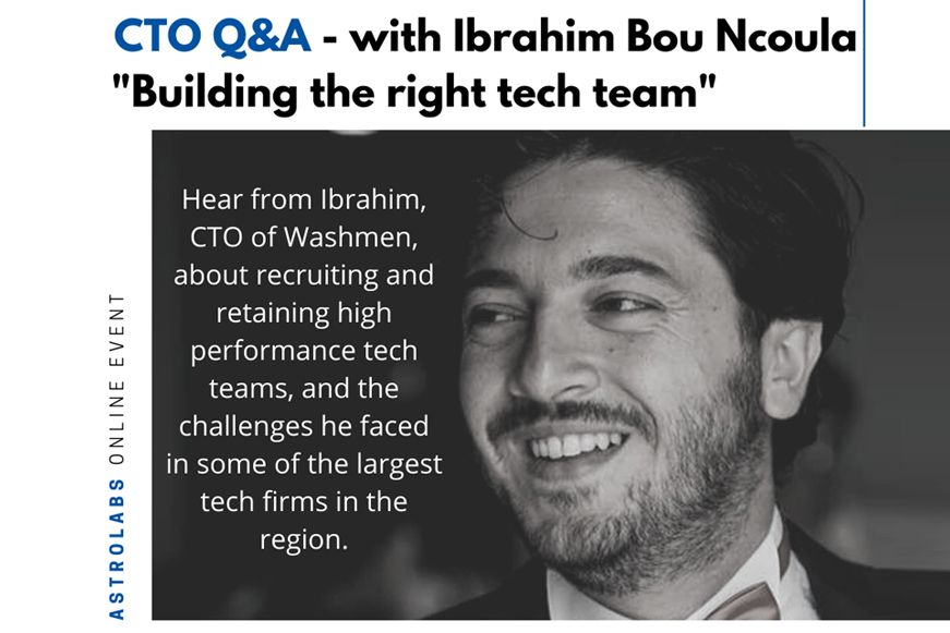 Tech #startup Washmen is revolutionizing the #laundryindustry in the UAE. In this webinar CTO Ibrahim Bou Ncoula discusses the pressures he faces,  prerequisites for hiring, and building a team for success. Highlights of the Q&A & full podcast right here: https://t.co/gtR8PlC3hm https://t.co/CeumsulWDT