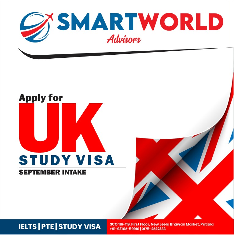Study in UK #UKstudyvisa #UKvisa Apply today#septemberintake  #septemberintake2020 #canadastudyvisa #applytoday  #smartworldadvisors #ielts #PTE #studyvisa #visaconsultant #spokenenglish #expertstrainers #wellqualifiedstaff  Gulzar Inder Chahal pic.twitter.com/jKuI2g6WUt