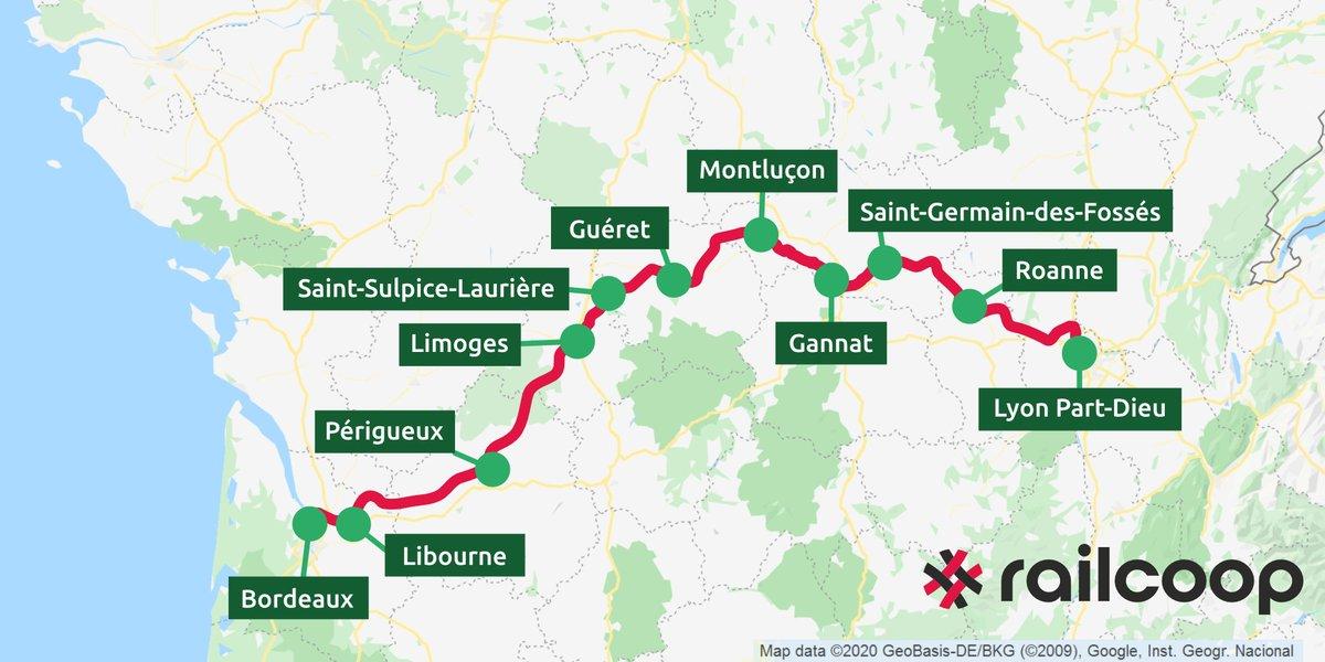 C'est OFFICIEL, la ré-ouverture de la ligne Bordeaux-Lyon vient d'être déclarée à l'@ART_transports ! 🎉 Nous vous dévoilons les villes qui seront desservies par la ligne à partir mi-2022.  Retrouvez notre CP : https://t.co/IJzo08QozN   🙌 Pour souscrire: https://t.co/61DYr123Ll https://t.co/sMeVMGLRi9