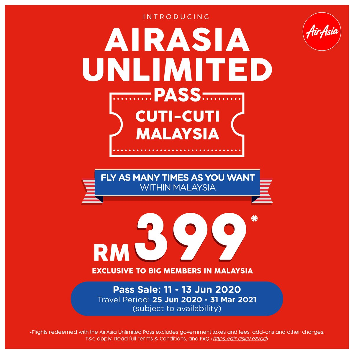 Thinking about getting the RM399 AirAsia Unlimited Pass? Here's all you need to know about it - from how much flight taxes would cost to how to purchase & redeem.  Read full T&C & FAQ https://t.co/nrOsZGeJ1a https://t.co/uTSamyzVp6