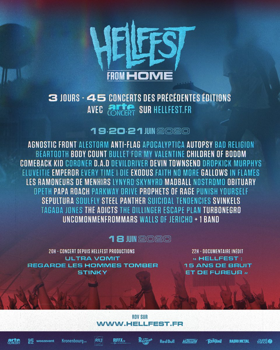 📺 HELLFEST FROM HOME 📺  w/ @ARTEconcertFR https://t.co/y8gM8XRusY  #hellfestfromhome https://t.co/B9lkny1NGe