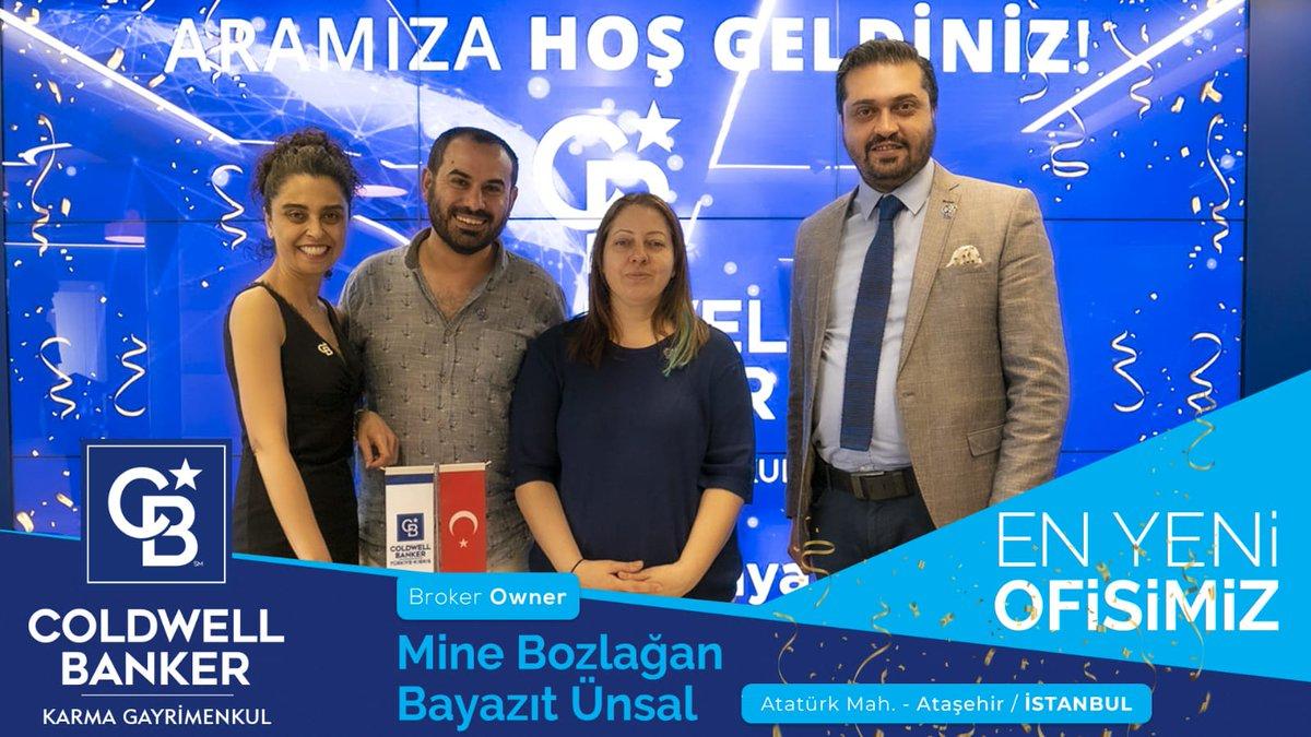 Gayrimenkul Satışında Dünya Lideri Olarak  Sektörde Tüm Heyecanımız ile Büyümeye Devam Ediyoruz! En Yeni Ofisimiz Coldwell Banker Karma Gayrimenkul Atatürk Mahallesi / Ataşehir/ İstanbul'da açılıyor! En yeni Broker'larımız Mine Bozlağan ve Bayazıt Ünsal  #CBTürkiye #CBKarma https://t.co/c1DOZM8V7z