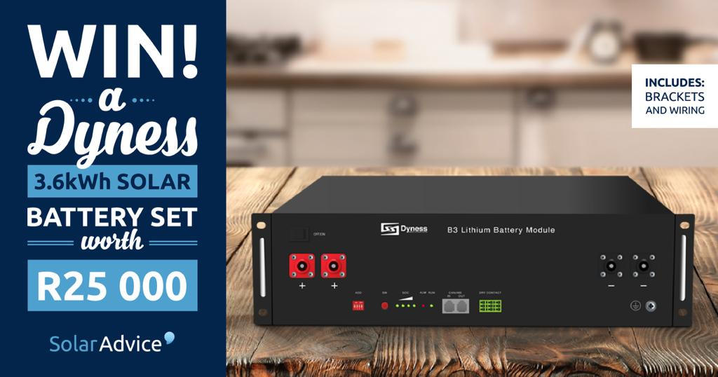 Enter here to stand a chance to WIN a Solar Battery worth R25k - bit.ly/solarcomp1 #solarpower #solaradvice