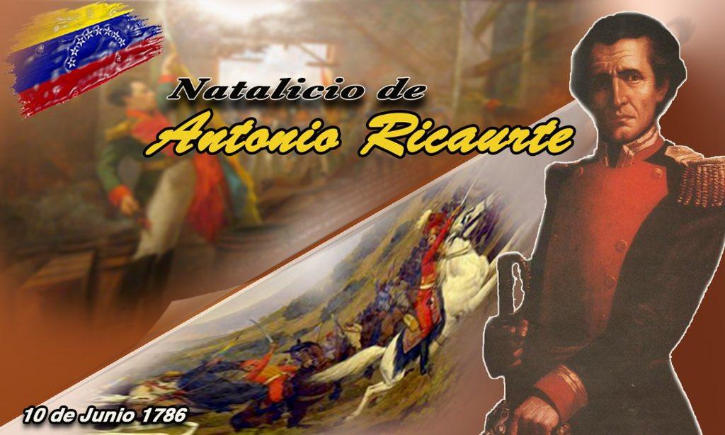 ¡Honramos la memoria inmortal del héroe neogranadino! Un día como hoy nació el Capitán Antonio Ricaurte, quien teniendo como único móvil el amor a la Libertad, no dudó en seguir a Bolívar en la Campaña Admirable y ofrendó su vida en el sitio de San Mateo. ¡GRATITUD ETERNA! https://t.co/7dYXwtrBBq