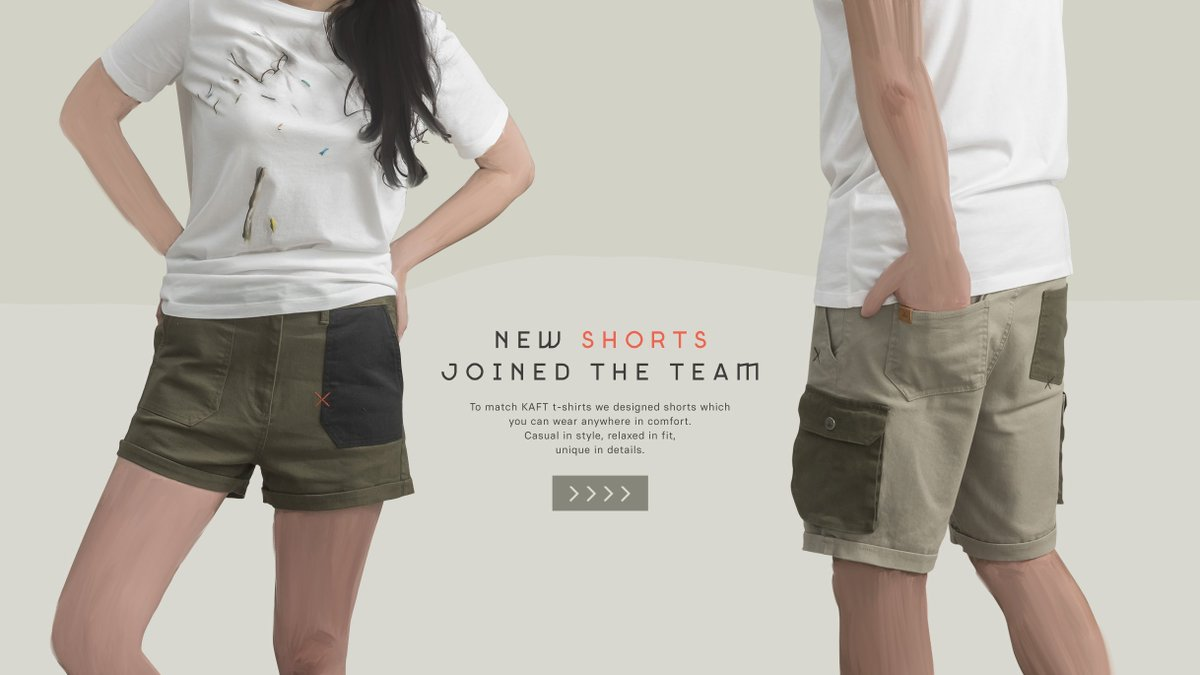 To match KAFT t-shirts we designed shorts which you can wear anywhere in comfort. Casual in style, relaxed in fit, unique in details. https://t.co/PnK7Vs1bCp https://t.co/sOtcR1kxKb