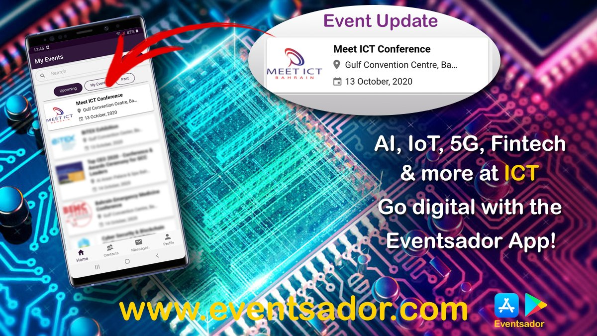 Event updated in the Eventsador App. Meet ICT 2020-Bahrain has been rescheduled from 16-18 June to 13-15 October 2020. #events #Bahrain #Kuwait #Saudi #Dubai #Oman #exhibitions  #MeetICT #conference #Bahrainevents #technology #digitaltransformation #innovation #eventsador https://t.co/UT3sP5txIX