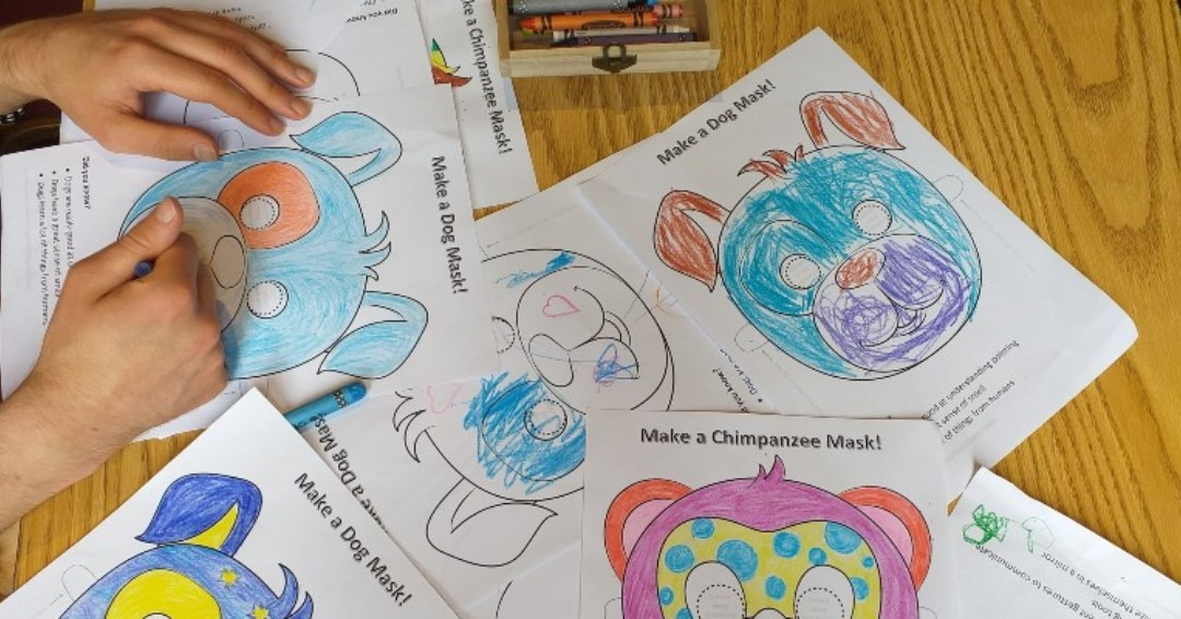 🐶#DiscoveryZone!🐶  Ever wondered how animals think?   Don't forget! You can still colour in dog, chimpanzee and parrot masks & learn cool facts about these animals with @YorkPsychology!  Animal Masks and Animal Facts - available now! https://t.co/tJGJlaZxts  #YorkIdeas https://t.co/EjCQ59lADy