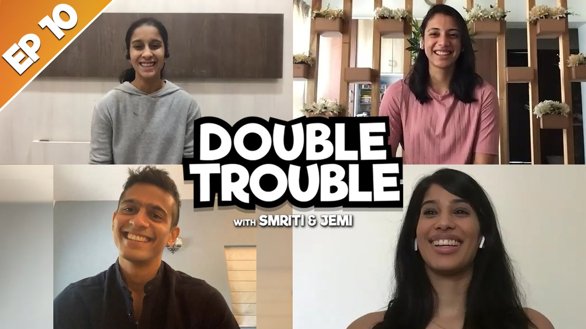 Childhood friends, International, champions by 18, Asian & Commonwealth medallists and the list goes on Our final ep. of #DoubleTrouble feats. the flag bearers of Indian squash, @joshnachinappa & @SauravGhosal Watch it here https://t.co/3fqSCOr7FO @mandhana_smriti @JemiRodrigues https://t.co/IxNp3Nc98d