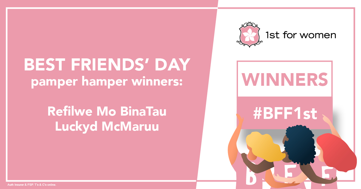 Hurray for the winners of our Best Friends' Day competition! Congrats to Refilwe Mo BinaTau and her bestie Luckyd McMaruu. Enjoy your pamper hampers. https://t.co/vtEjtPAqzS
