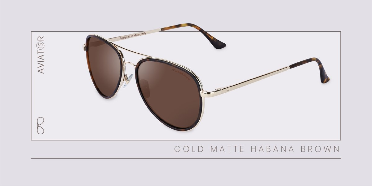 #NuevaColección  AVIAT⑮R GOLD MATTE HABANA BROWN, gafas ultraligeras de estilo aviador rediseñadas para darles un toque moderno y chic  Consíguelas en: https://t.co/I1SSjGvGb1  ¡Envíos y devoluciones GRATIS!  #ClandestineSun #Verano2020 #Fashion https://t.co/otha1dSXfF