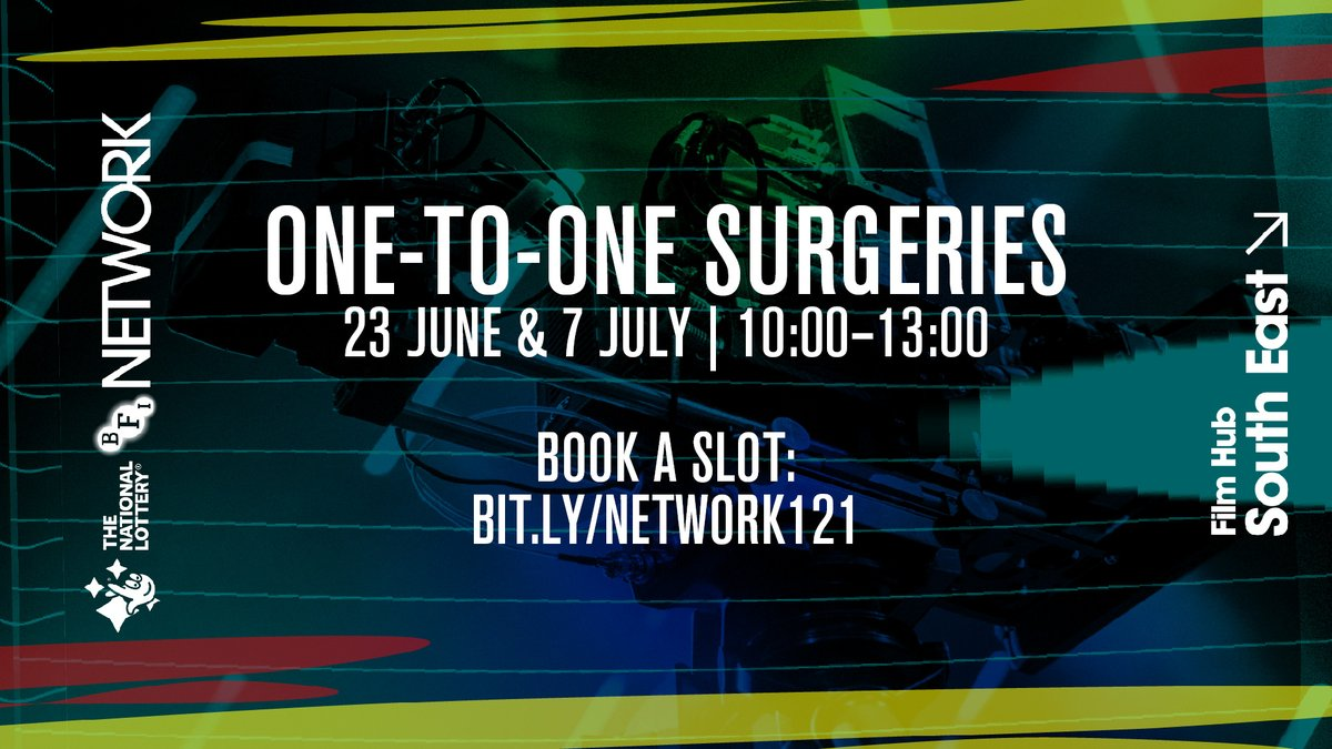 We are offering one-to-one surgeries to South East-based filmmakers who want to apply for #BFINetwork funding.  We will be running these sessions every other Tuesday starting 23 June.  Click here to book a slot: https://t.co/oEtgSG30QB https://t.co/1BHREAH8Vn
