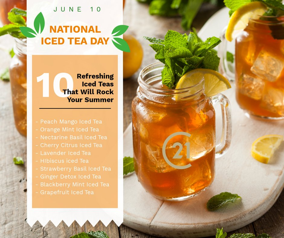 National Iced Tea Day!! Where's your favorite place to celebrate! #nationalicedteaday #summervillesc #summervillescrealestate https://t.co/DyrY8s0I8g
