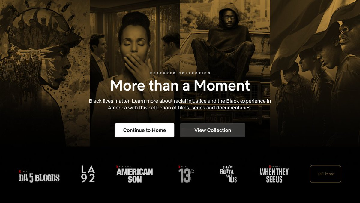 When you log onto Netflix today, you will see a carefully curated list of titles that only begin to tell the complex and layered stories about racial injustice and Blackness in America. https://t.co/dN6XQmsrGK https://t.co/3CIrrno6mw