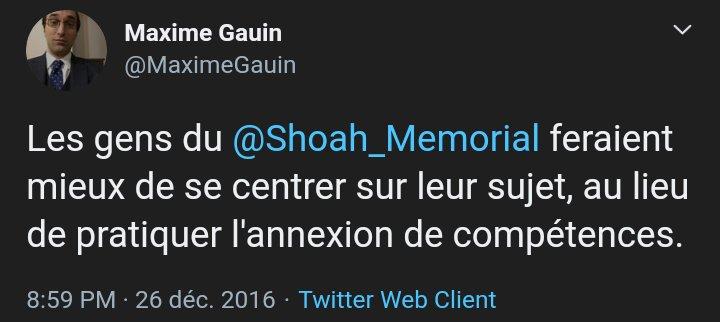 Merci pour cette précision, @Collectif_VAN.  Mais #MaximeGauin se moque autant de #YvesTernon que du @Shoah_Memorial.  C'est plus facile pour lui de fréquenter des adeptes du #nationalisme turc pour répandre ses thèses sur le #Génocide1915.  cc @maitrepardo https://t.co/nbJWUirDYC https://t.co/5eBqg3dRWq