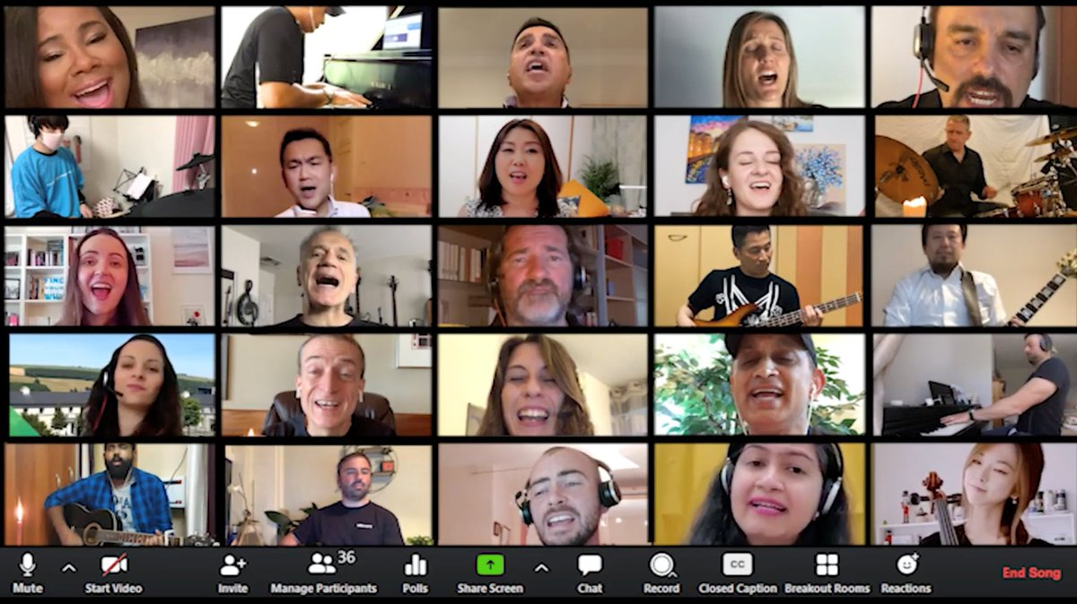 "While we fight the pandemic and social injustice, a group of 30 of us @VMware decided to create music virtually from our #ShelterInPlace homes to #LetItShine. Here it is, produced by Vittorio Viarengo and yours truly - ""This Little Light of Mine"". Enjoy!  https://t.co/kQZDfN9xgE https://t.co/naee8dqOnn"