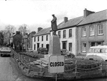 In Fishguard the statue of St Statue, the patron saint of statues is now closed - just as a precaution