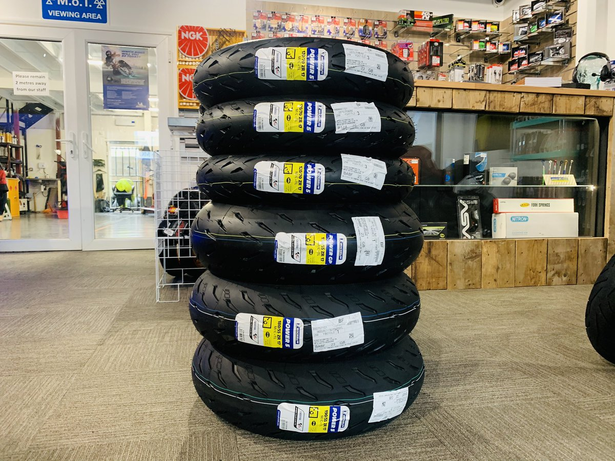 More Michelin tyres delivered today ready for the £30 off, or free tyre pressure monitoring system offer from Michelin.   Whatever type of bike, and however you like to ride, we've got the right Michelin tyres for you.   #FuelingYourFreedom #teammichelin #michelinonmymoto pic.twitter.com/P18a3BegN5