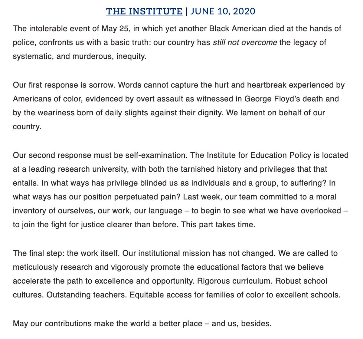 In solidarity…from our team #JHUEdPolicy. edpolicy.education.jhu.edu/author/shardin…