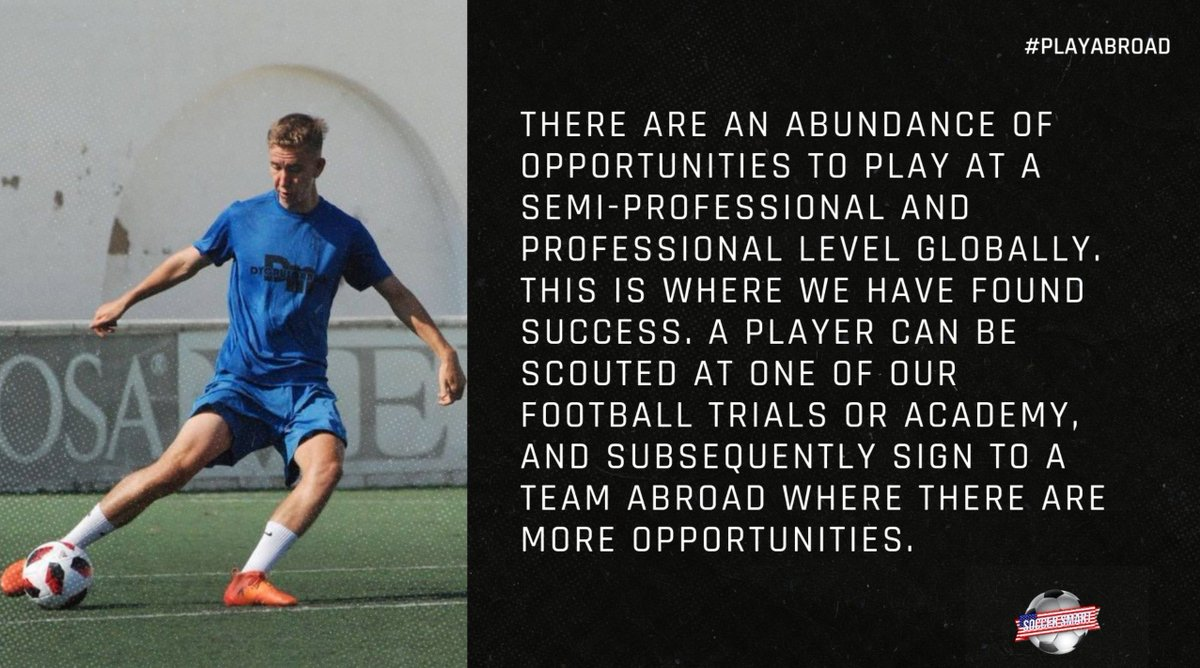 Looking to start your journey in football? @Soccer_Smart can help!  Get in touch for a free consultation about where your career can go.  #PlayAbroad  #SmartPlayer https://t.co/Tq6L9bLsgv