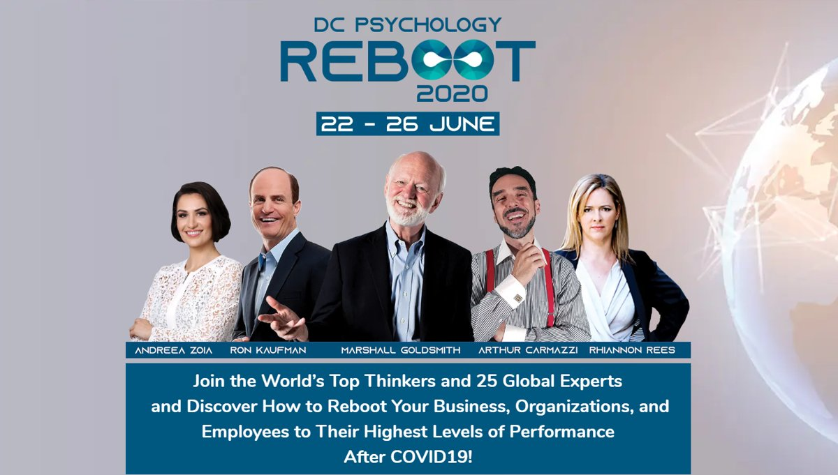 https://t.co/scStMTWjuT Join us FREE, at Reboot 2020, with Marshal Goldsmith, Ron Kaufman and other great gurus and coaches and discover ho you can reboot business organizations and people after COVID19. https://t.co/caCp6bwAmp