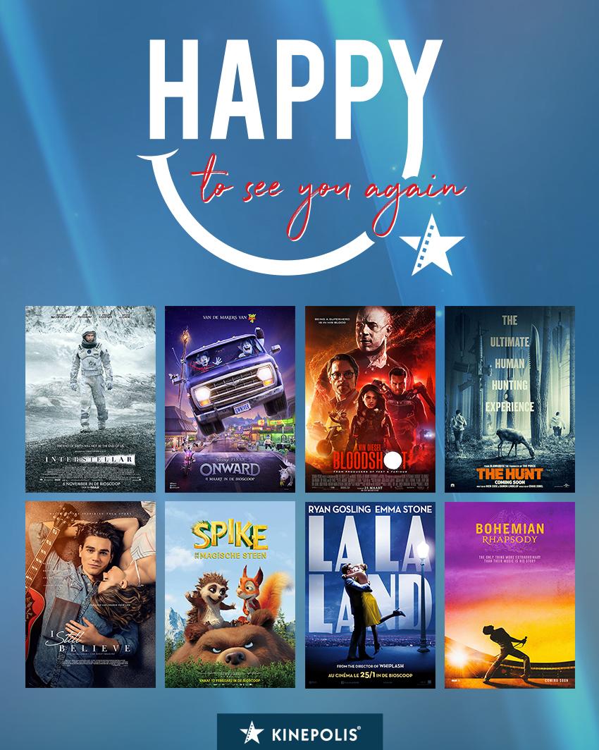 Een overzicht van de films die verwacht worden in Belgische bioscopen vanaf 1 juli 2020 zijn
