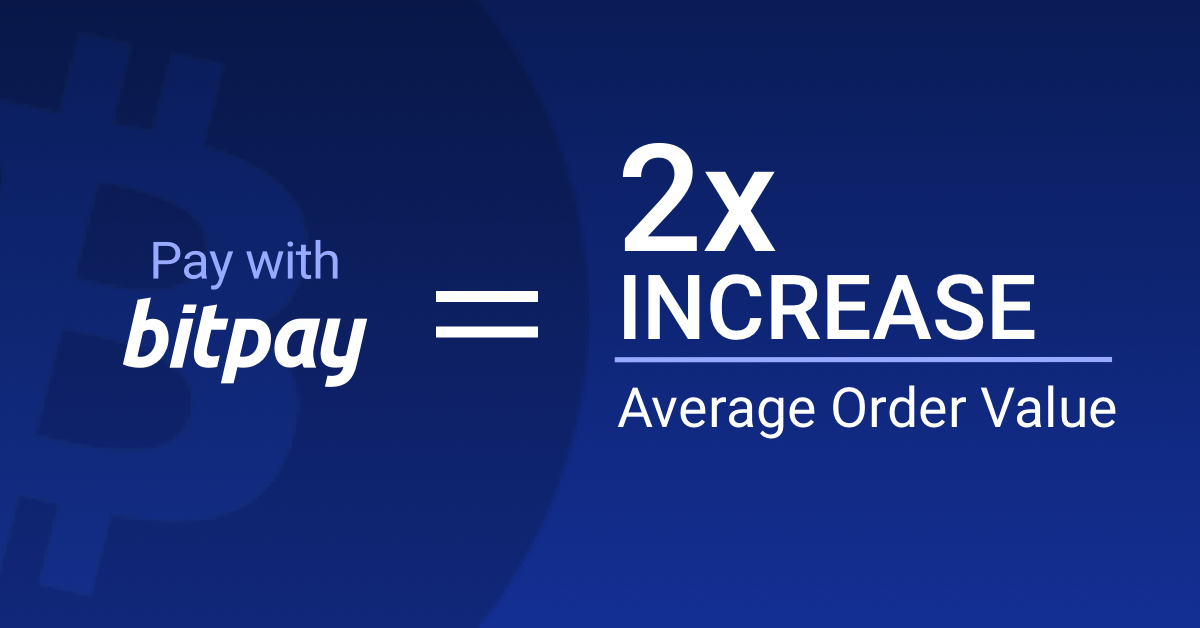 Adding BitPay to your checkout flow can result in a 2X increase in AOV. See how one customer is experiencing exactly that here: https://t.co/G6ajtwil9u  #blockchainpayments #bitcoin #xrp #eth #crypto #averageordervalue #etailers #ecommercemetrics https://t.co/dXkLAYluE0